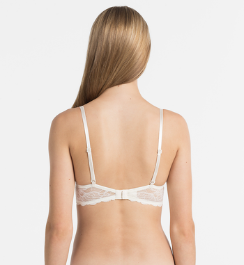 Calvin Klein Seductive comfort lace push-up bh ivoor