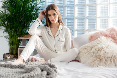 Pretty You Bamboo Pyjama Ivoor