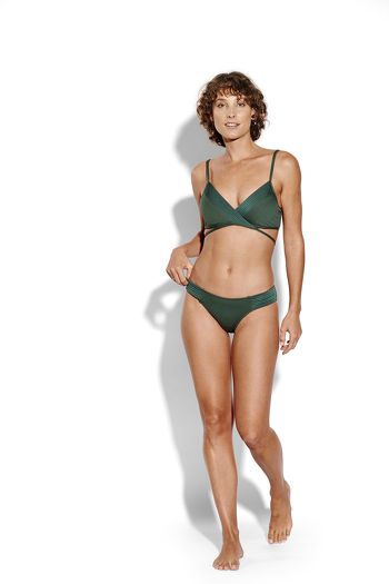 Seafolly Quilted Laag Bikinibroekje Forest