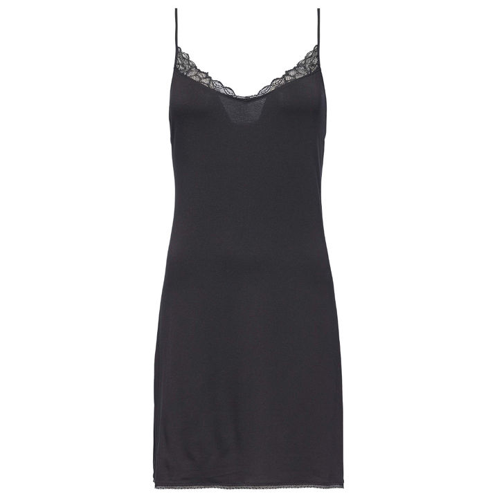 Calvin Klein seductive face slipdress zwart