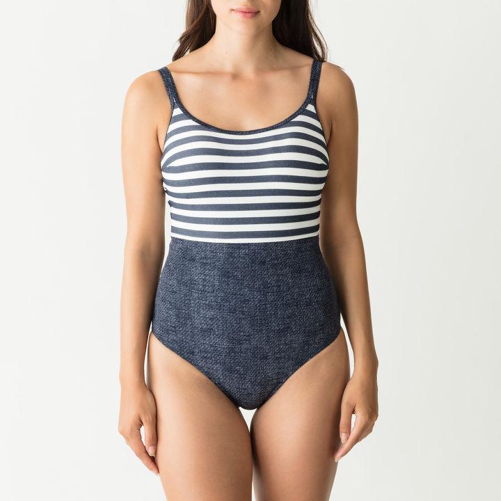 Badpak Met Voorgevormde Cups.Prima Donna Swim California Badpak Met Soft Cups Jeansblauw Pink
